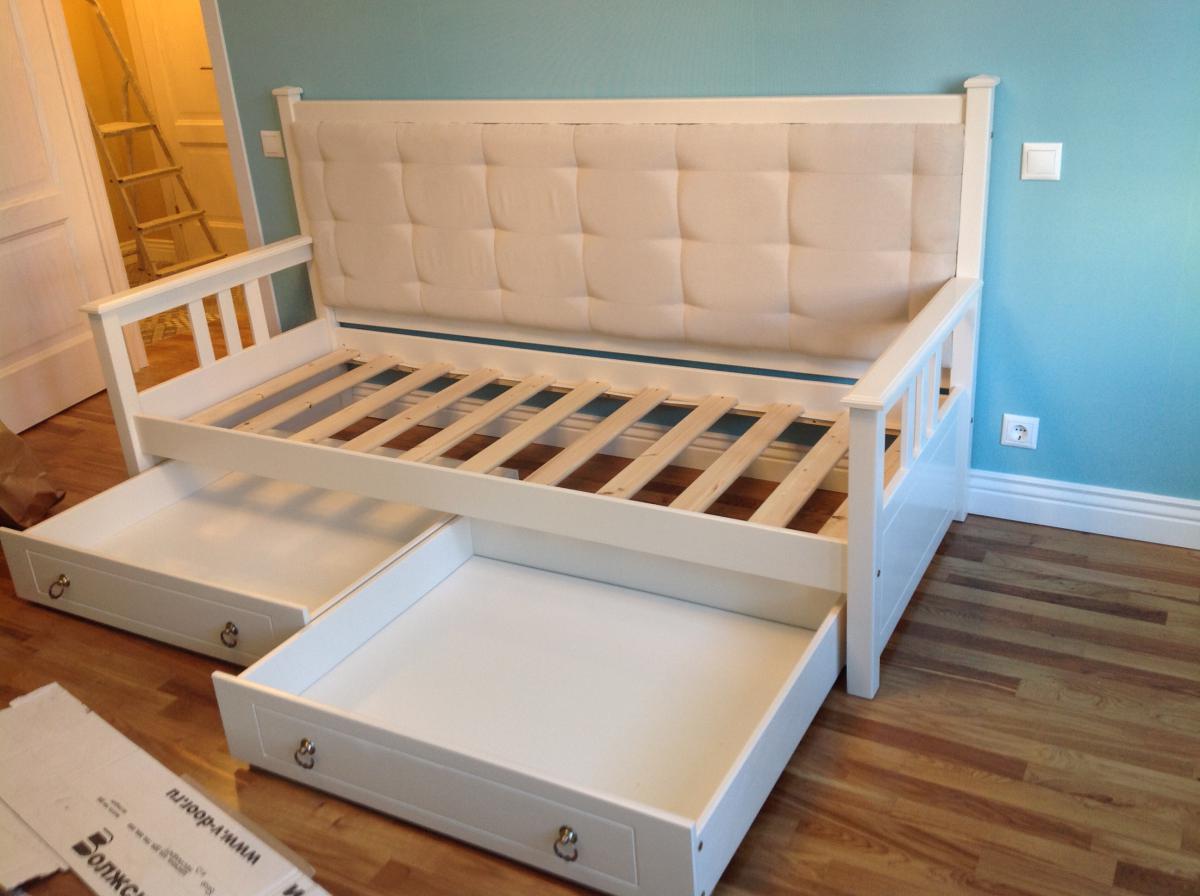 кто раздвижная кровать с ящиками для хранения фото известно