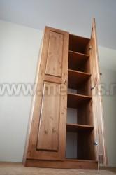 Шкаф Классик комбинированный из массива сосны.