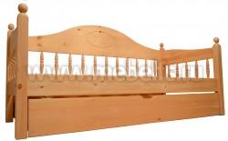 Кровать-тахта F3 (70х150) с выдвижным ящиком из сосны