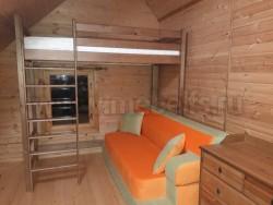 Кровать чердак Классика из массива сосны (90x200x205см).