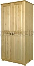 Деревянный шкаф двухстворчатый (Alex).