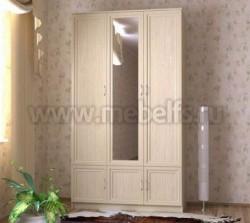 Шкаф для одежды трехстворчатый с зеркалом (ДМ).