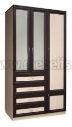 Шкаф для одежды 1200 с ящиками (ВДМ).