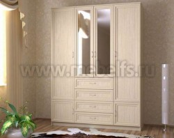 Шкаф для одежды 1600 с ящиками (ДМ).