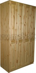 Шкаф четырехдверный Герман-4 (платяной) из сосны.