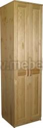 Шкаф для одежды Константин (2х дверный с полками) из сосны.
