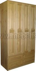 Шкаф из сосны Герман-4 (с 4-мя ящиками).