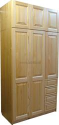 Шкаф из сосны Оскар-3 (3х дверный с ящиками и антресолью 51см).