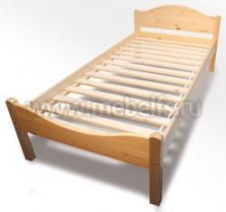 Кровать односпальная Ницца из сосны (90х200см).