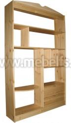 Стеллаж с выдвижными ящиками (Ст-1250) из сосны.