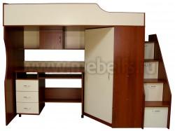 Кровать чердак Умка-202 с рабочей зоной (ИОВ).