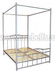 """Двуспальная кровать металлическая """"Венеция 2"""" под балдахин."""
