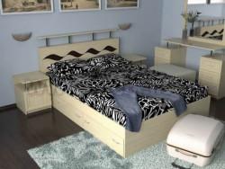 Кровать двуспальная Волна-3 (160х200см) с ящиками.
