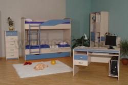 Детская комната мебель НМЖК 4.5.М.3 (ДБС).