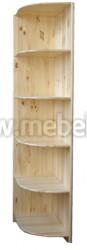 Стеллаж угловой Оскар из массива сосны (40x58x190см).