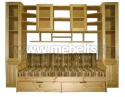 Стенка мебельная ДМ-Ника из массива сосны.