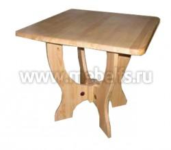 Стол квадратный Омега из массива дерева