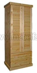 Шкаф для одежды с ящиками Скандинавия из массива сосны.