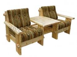 Кресло из Тандем 1+1 из массива сосны.