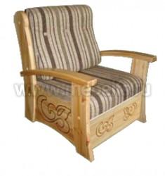 Кресло с ящиком Баю-бай из массива сосны.