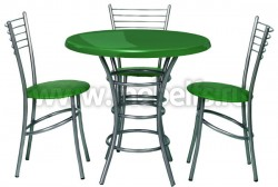 Обеденный круглый стол Дуолит-металлик (900)