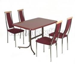 Стол обеденный прямоугольный Дуолит-металлик (1100х700)