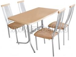 Прямоугольный обеденный стол Дуолит-металлик (1200х800)