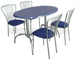 Стол обеденный овальный  Дуолит-блестки (1200х800)