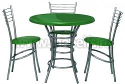 Обеденный стол круглый Дуолит-блестки (900)