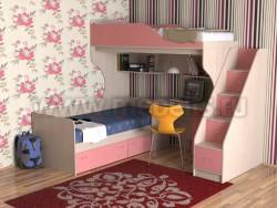 Двухъярусная кровать с диваном Дуэт-5.2 (ДМР).