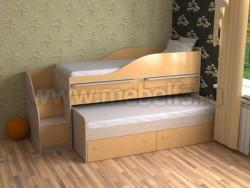 Двухъярусная кровать для двоих детей Дуэт-8 (ДМО).