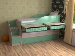 Двухъярусная кровать для двоих детей Дуэт-8 (ДМЗ).