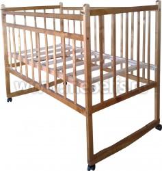 Кроватка для новорожденного Ника Эконом (колесо+качалка).