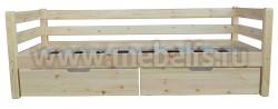 Кровать тахта Гусар 80х190 с ящиками под белье.