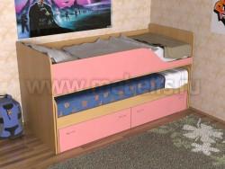 Детская двухъярусная выдвижная кровать с ящиками Дуэт-2 (БР).