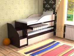 Двухъярусная кровать для двоих детей Дуэт-8 (ВДМ).