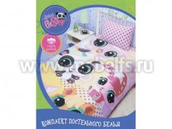 Детское постельное белье из хлопка Littlest PetShop.