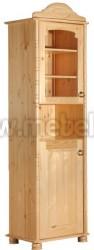 Сервант Айно 1-дверный со стеклом из массива сосны.