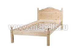 Односпальная кровать из дерева К1 (70х190см).