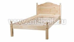 Односпальная кровать из дерева К1 (70х150см).