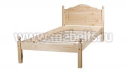 Односпальная кровать из дерева К1 (60х140см).