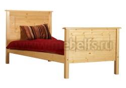 Двуспальная кровать Т2 140х200 из массива сосны.