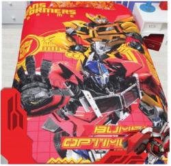 Детское постельное белье из хлопка Transformers на красном.