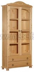 Книжный шкаф Айно №1 с выдвижными ящиками из сосны