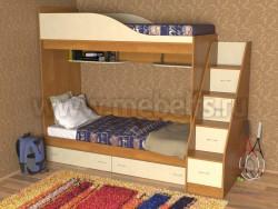 Кровать двухъярусная с лестницей-ящиками Дуэт (ОВ).