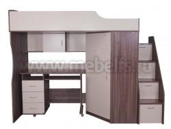 Кровать чердак с рабочей зоной Умка-202 (ЯШ/В).