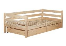 Односпальная кровать тахта Классика с ящиками (90х200).