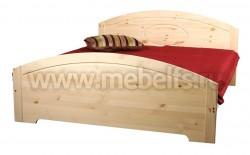 Двуспальная кровать Инга 140х200 из массива сосны.