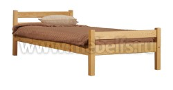 Кровать односпальная деревянная Классика (80х190).