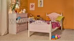 Кровать односпальная К2 70х150 детская из массива.
